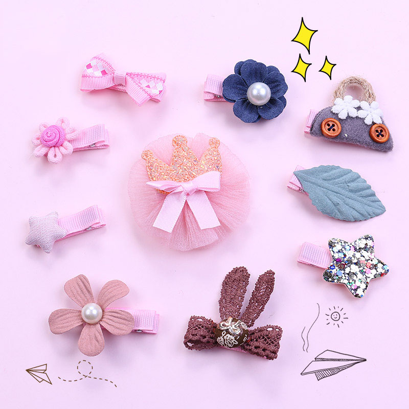 Cute Flower Princess Hairpin Kids Girl Hair Clips Barrettes for Children Lovely