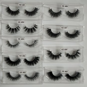 Hexuan Eyelashes 4D Mink Lashes 30pairs a lot Handmade luxury  eyeLashes 29 styles cruelty free mink lashes without boxes