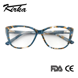 Image 2 - Kirka Cat Eye Frame Eyeglass Women Frame Acetate Clear Fashion Glasses Frame Optical Women Reading Glasses Eyeglasses Myopia