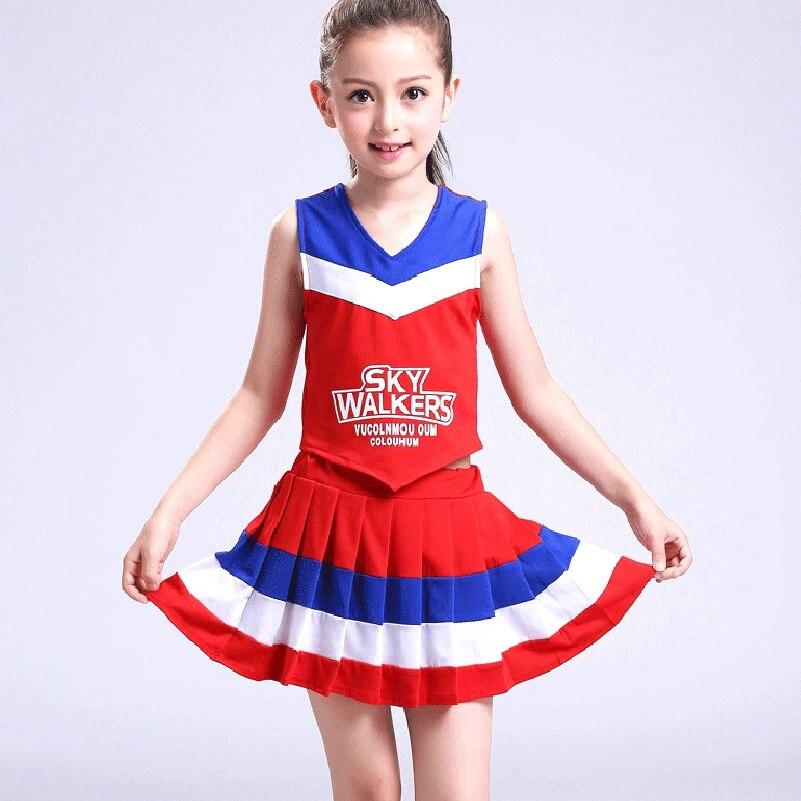 Cheerleader Circle Skirt Dance Show Girls Fancy Dress Hen Party
