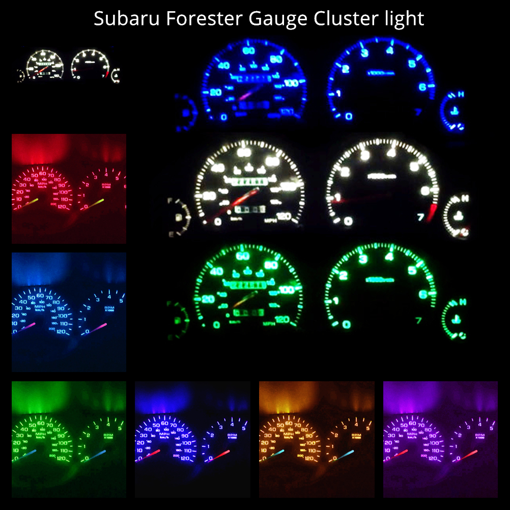 Subaru Forester X Wagon 02-05 Hi-Power WH LED Dash Instrument Cluster Light Kit