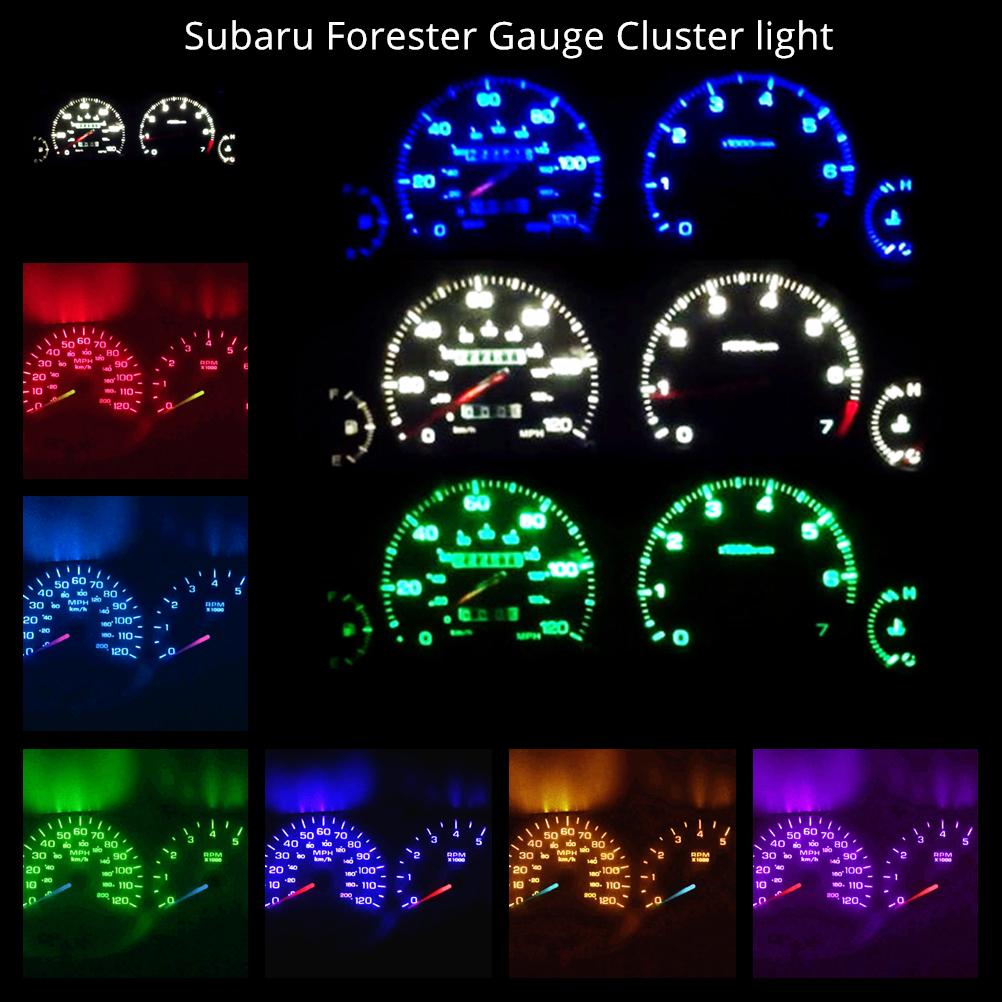 Subaru Forester X Wagon 02-05 Hi-Power WH LED Dash Instrument Cluster Light Kit