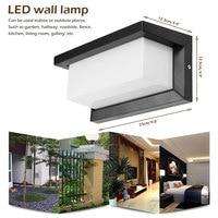 IP55 12W LED Outdoor Wand Licht Wand Montiert Moderne Lampe AC85 265V Wasserdichte Außen Beleuchtung Für Garten Heim-in Outdoor-Wandlampen aus Licht & Beleuchtung bei