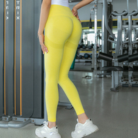 YELLOW-Seamless Yoga Leggings Women Sportwear