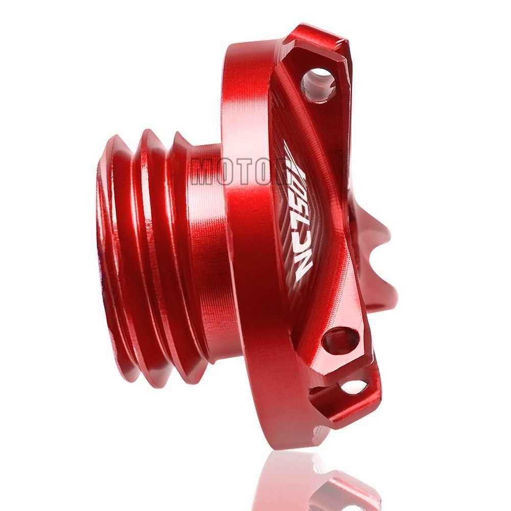 لهوندا NC750X 2014-2015 NC750 NC 750 X 750X CNC الألومنيوم دراجة نارية دراجة نارية مجموعة التزود/تعبئة بالزيت التوصيل كاب زيت المحرك ملء كأس غطاء
