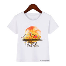 Лето 2020 футболка для маленьких мальчиков Детская с мультяшным