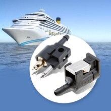 보트 선외 엔진 연료 라인 커넥터 맞는 1/4 호스 라인 야마하 선외 모터 연료 파이프 7mm 남성 보트 액세서리 해양