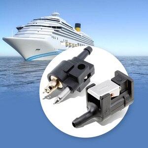 Image 1 - Conector de sedal de combustible para Motor fueraborda de barco, manguera de 1/4 pulgadas para Motor fueraborda de Yamaha, tubo de combustible de 7mm, accesorios masculinos para barcos marinos