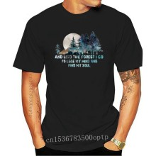 PINE And Into The Forest I Go To Lose My Mind Men's Ash T Shirt Cotton S-6XLCool Casual pride t shirt men Unisex Fashion tshirt