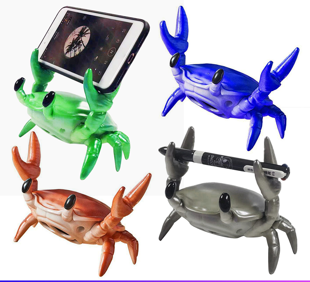 Wireless Bluetooth Small Sound Desktop Phone Stand Speaker Creative INS web celebrity Subwoofer Lifting Crab