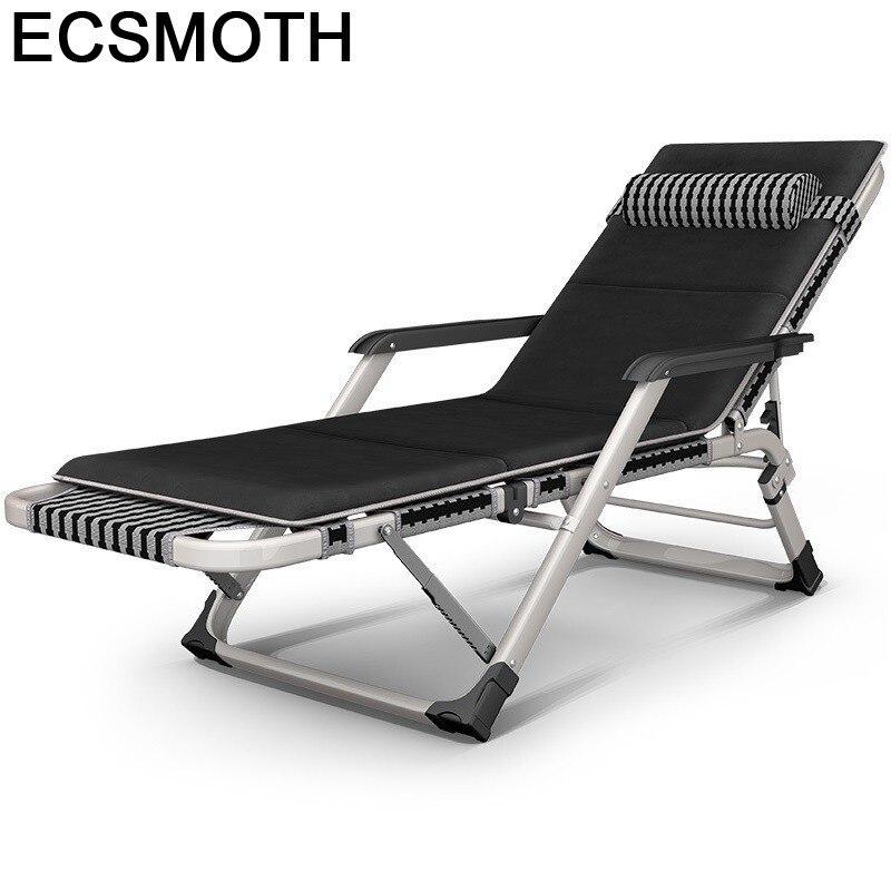 Beach Fauteuil Mueble Silla Playa Recliner Chair Camping Folding Bed Garden Salon De Jardin Outdoor Furniture Chaise Lounge