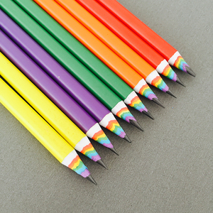 Image 1 - 50pcs New Colorful Rainbow Pencil Drawing Pencil For School Office Creative Stationery Paper Pencils Kids Gift Set Wholesale