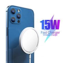 Carregador sem fio magnético original para iphone 12 pro max carregador rápido para iphone 12 mini usb c pd adaptador magsafing carga rápida