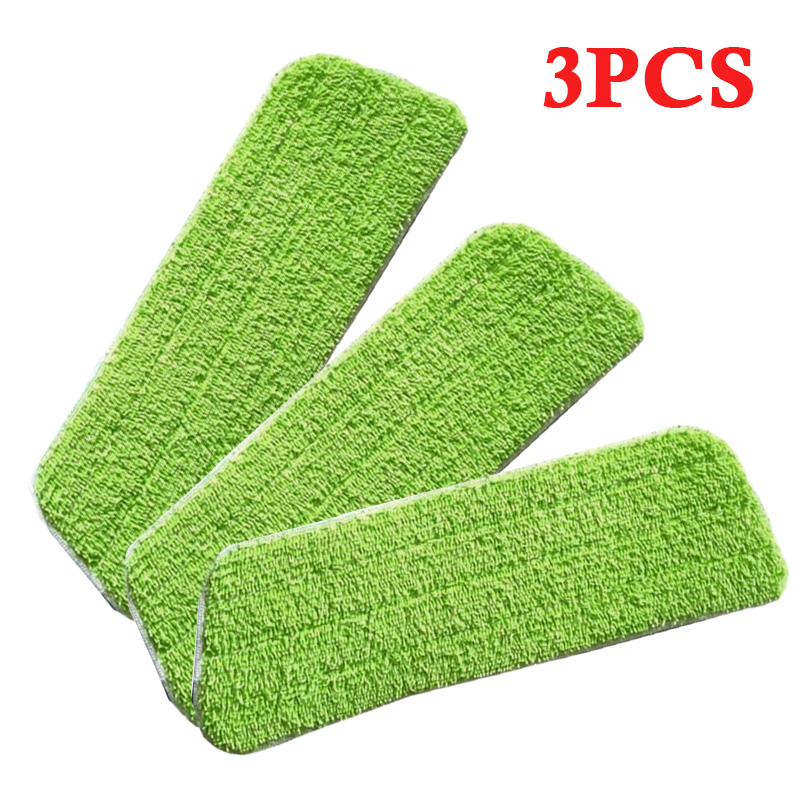 3x Micro fiber Cloth For Flat Mop Water Spray Household Floor Cleaner Mop Head Micro fiber Cloth for Flat Mop Head (Flat Mop Not|Hand Push Sweepers|Home & Garden - title=