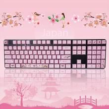 1 комплект сменных клавиш oem pbt 108 колпачки для с сублимационной