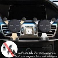 ¡Oferta! Soporte de teléfono con bloqueo automático para coche, Clip de rejilla de ventilación, No magnético, gravedad, soporte para teléfono móvil