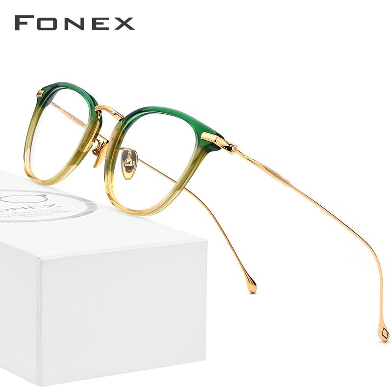 Pure B Titanium Optical Glasses Frame Men Vintage Square Prescription Eyeglasses Women Retro Round Myopia Spectacles Eyewear 839-in Women's Eyewear Frames from Apparel Accessories