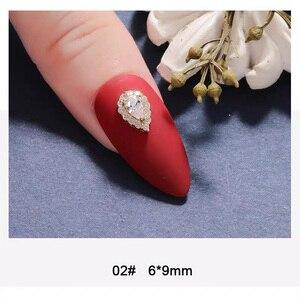 Image 3 - 10pcs 3D della lega di Zircon Accessori di arte Del Chiodo di lusso luna zircone trapano unghie top livello del chiodo decorazioni di bellezza