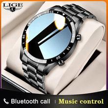 Lige 2020 novo relógio inteligente masculino tela de toque completa esportes fitness relógio ip68 à prova dip68 água bluetooth para android ios smartwatch dos homens
