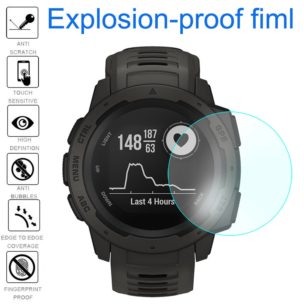 2Pcs Ultra Clear Explosion-proof TPU Film Screen Protector for Garmin Instinct Watch screen protector accesorios