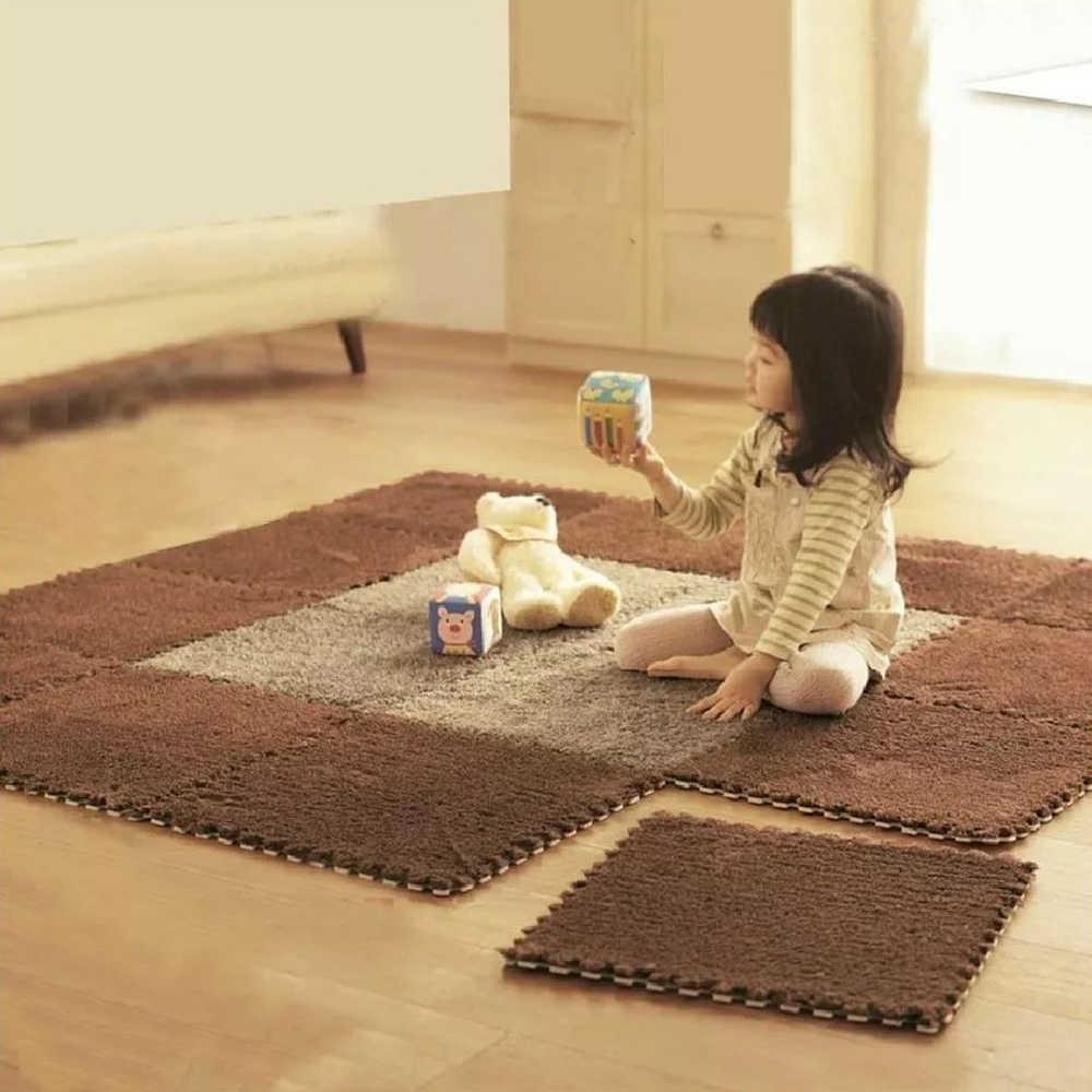 10 unids/lote de estera de juego para bebés, estera de espuma EVA, juguete de rompecabezas, alfombra de suelo suave para niños, juegos de estera para gatear, juguetes para bebés, estera para niños