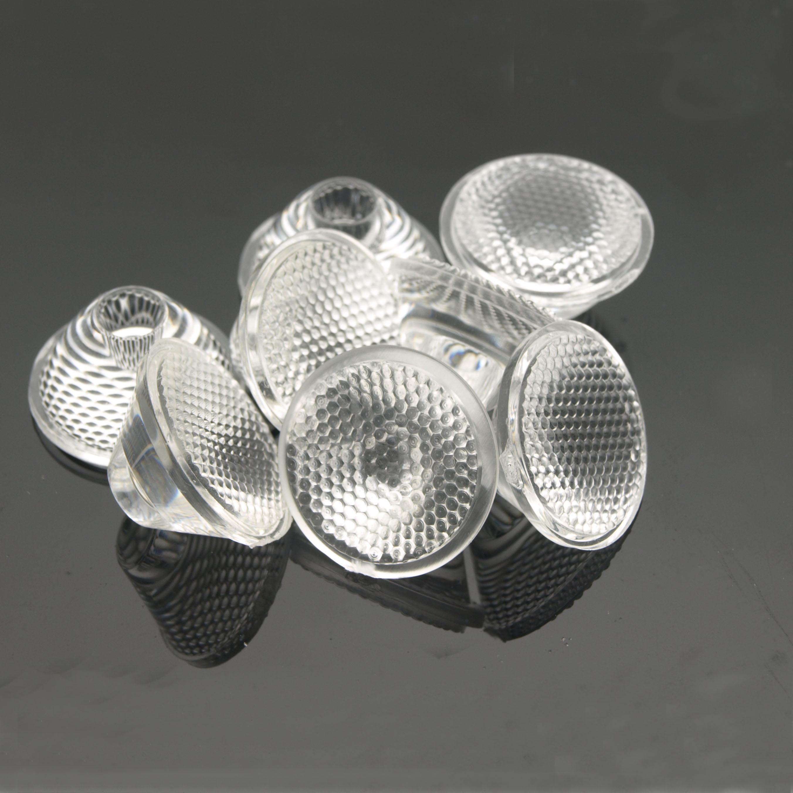 20 мм 5/8/10/25/30/60/90/120 градусов оптический PMMA светодиодный линзы коллиматор отражатель для 1 Вт, 3 Вт, 5 Вт, светодиодный светильник лампа E27 MR16 GU10