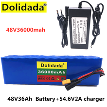 Dolidada XT60 interface 48V battery 13S3P 36Ah battery pack 500W high power battery 48V36000mAh Ebike electric bike BMS+Charger(China)