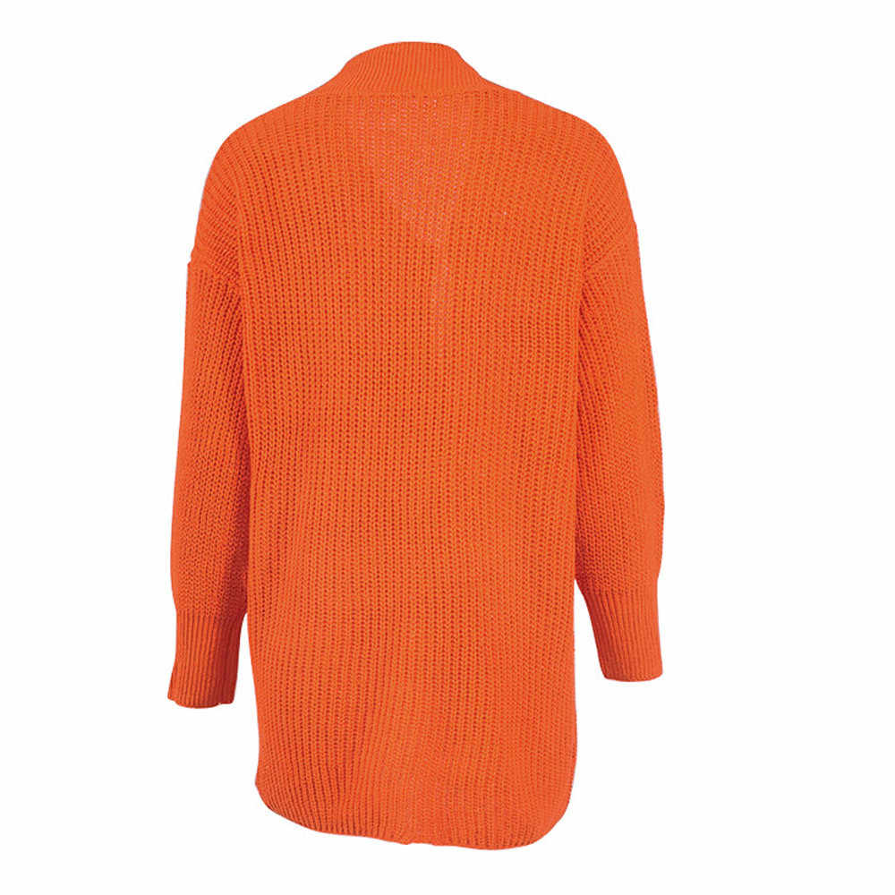 Whoohoo Frauen Lose Langarm Solide Tasche Strickjacke Tops Pullover Gestrickte Mantel Feminino 2019 Neue Herbst Winter Dicken Mantel ^ 40