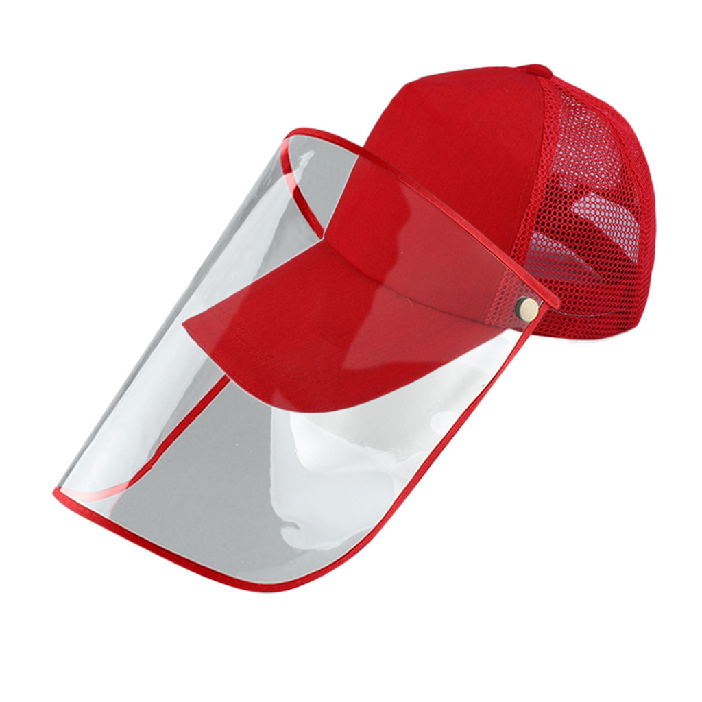 Peaked Hat Multi-function Protective Cap Dustproof Cover Baseball Cap Adjustable Anti-Spitting Splash Prevents Saliva  #B