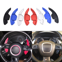 Extensão de volante automotivo em alumínio, alavanca de câmbio, volante, para audi a3 s3 a4 s4 b8 a5 s5 a6 s6 a8 r8 q5 q7 tt dsg
