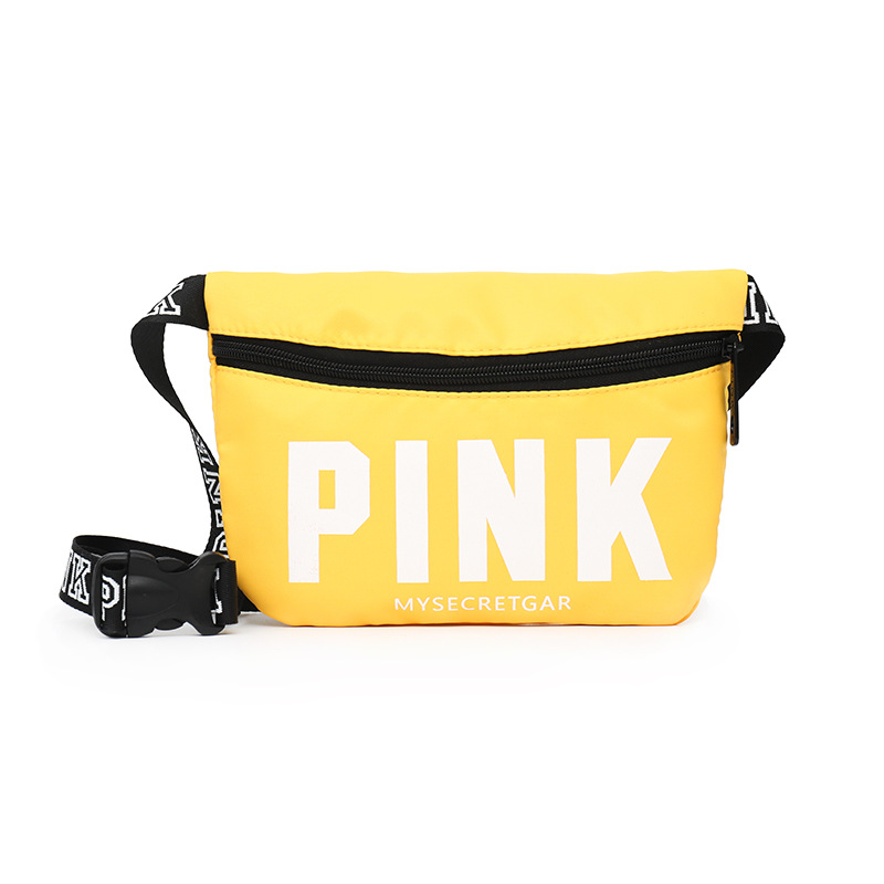 Fanny Pack Holographic Waist Pack Leisure Women's Belt Bag Pink Waist Bag Mini Men Bum Bag Letter Sac Banane