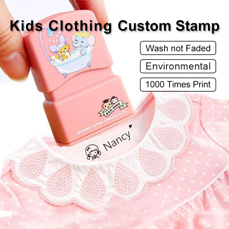 Custom-made Baby Name Stamp DIY for Children Name Seal Student Clothes Chapter Not Easy To Fade Security Name Stamp Waterproof(China)