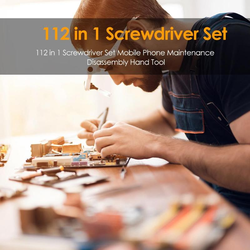 112 in 1 Hand Tool Set Screwdriver Set Mobile Phone Maintenance Disassembly Hand Tool Mobile Phone Repair Tools Kit