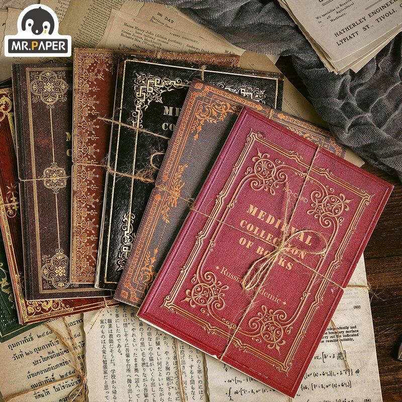 Mr. Kağıt 10 tasarımlar antika ortaçağ kayıt mektup Scrapbooking/kart yapımı/günlük projesi DIY Retro asmak etiketi ile delik kartları