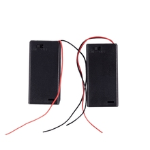 2 x AA 3V Battery Holder Case Box Slot Wired ON/OFF Switch w Cover 1 slots wired battery holder box power battery storage case box holder leads with cover on off switch