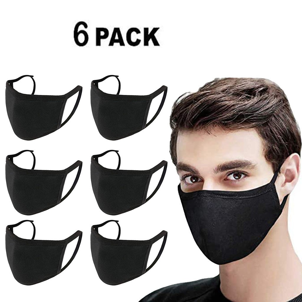 6PCS Anti-Dust PM2.5 Filter Face Masks Dustproof Mouth Mask Reusable Washable Kpop Adult Mouth Face Mask Cover Respirator