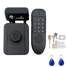 Door Handle 125KHZ Anti-Theft Lock Smart Access Control Fingerprint Storage Password Card Key Integrated Electric Free Wiring