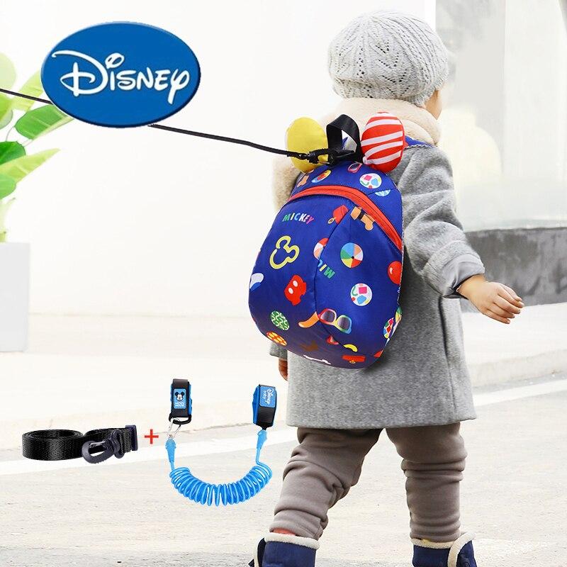 Disney Baby Walker Safety Harness Backpack Kinder Harness Leashes Andador Para Bebe Toddler Mickey Anti-Lost Bag Kinder Wings
