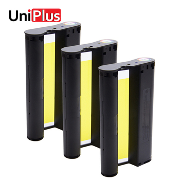 UniPlus 3pcs Ink Paper Printing for Canon Selphy CP Series CP1200 CP1300 CP910 CP900 Ink Ribbon Cassette Photo Printer KP-36IN casual canvas handbags portable storage bag men women case for canon selphy cp910 900 1200 digital photo printer