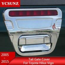 ABS Chrome Design Tail Gate Trim Rear Handle Insert For Toyota Hilux Vigo 2012 2013 2014 2005 2006 2007 2008 2009 2010 2011