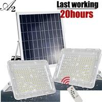 A2 Super Bright Solar lamp flood light 15000mA large battery Solar Light Wireless Outdoor Waterproof Garden large Solar panel