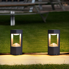 Thrisdar Новинка 10 Вт Водонепроницаемый светодиодный садовый светильник Современный Алюминий путь колонна светильник открытый двор виллы бло...