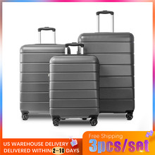 цена на VOGVIGO 3pcs/set Suitcase on Wheels Rolling Luggage Carry-Ons Baggage Set Family Travel Out Luggages US Free Shipping Delivery