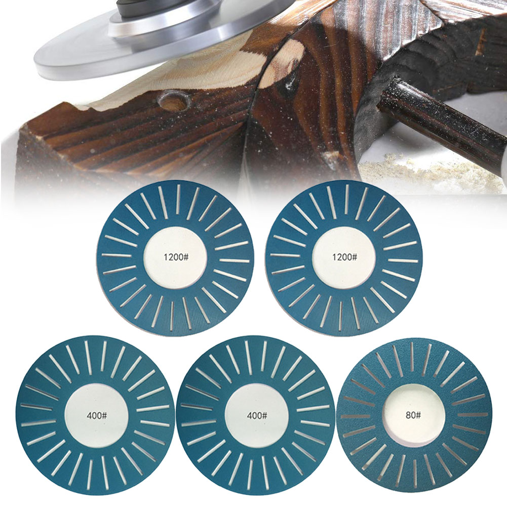 5pcs Home Sandpaper Disc Blue DIY Industrial Slotted Abrasive Kits Hardware Durable Sanding Paper Adhesive For Work Sharp WS3000