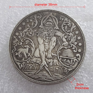 Morgan Wandering Coin Gods Eye Coin всемогущий Бог солнце американская монета Коллекция украшения дома памятные монеты подарок