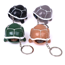 Cute Tortoise Telescopic Head Keychain Cartoon Turtle Key Ring Anti Stress Squeeze Toys Funny Vent Toy Gifts Random Color