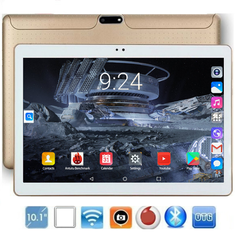 2020 New Tablet PC 10 Inch Android 9.0 128GB ROM 6GB RAM Octa Core Phone Call Dual SIM Tablets Gps Fm Bluetooth 10.1 Phablet