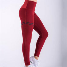 2019 Summer Women's Sports Trousers Workout Gym Fitness Leggings High Elastic Pants Running Gym Quick Drying Training Trousers(China)