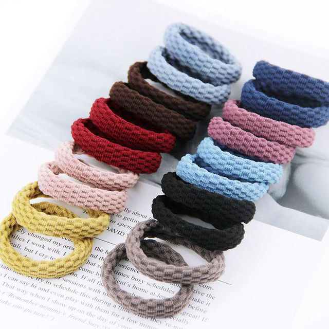 10PCS Women Girls Simple Basic Elastic Hair Bands Ties Scrunchie Ponytail Holder Rubber Bands Fashion Headband Hair Accessories 2
