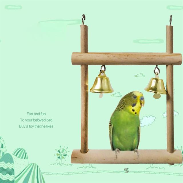8pcs set Wooden Parrot Chewing Toy -Swing -Soft Ladder- Wooden Bead- Spiral Staircase 4
